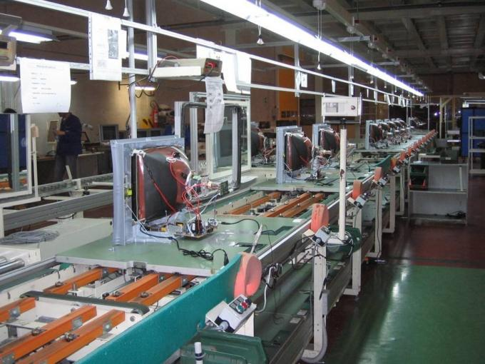 Full Automatic Tv Assembly Line Conveyor , Television Production Equipment