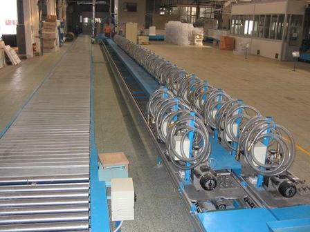 Vacuuming Refrigerator Automated Assembly Line Equipment With Lift Conveyor