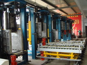 China Auto Refrigerator Assembly Line , 6-station Cabinet Foaming Lines supplier