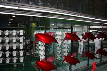 China Powder Coating Booths Motorcycle production Assembly Line Liquid Painting System distributor