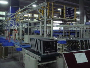China Home Appliance HD TV Assembly Line Testing System , Television Conveyor Line distributor